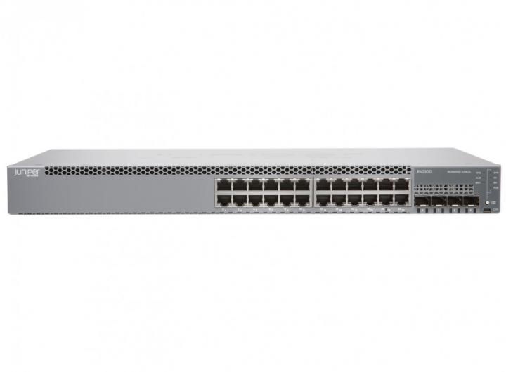 Juniper EX2300-24T-DC 24 Ports 10/100/1000BASE-T, 4 x 1/10GbE SFP/SFP+