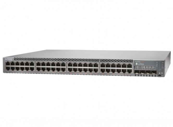 Juniper EX3400-48P-TAA 48 Port 10/100/1000BASE-T, 4 x 1/10GbE SFP+, 2 x 40GbE QSFP+