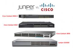 So sánh Cisco 2960-X vs Cisco 3650 vs Cisco 3850 với Juniper EX3400